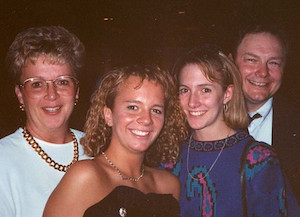 Peggy, Stephanie, Jeni and Gene Schmidt, 1992