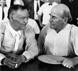 Clarence Darrow & William Jennings Bryan during the Scopes Trial