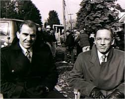 "Douglas and Scott Glenn on the set of ""The Silence of the Lambs"""