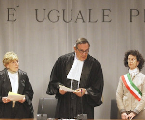 Judge Alessandro Nencini reads verdict in Kox-Sollecito retrial.