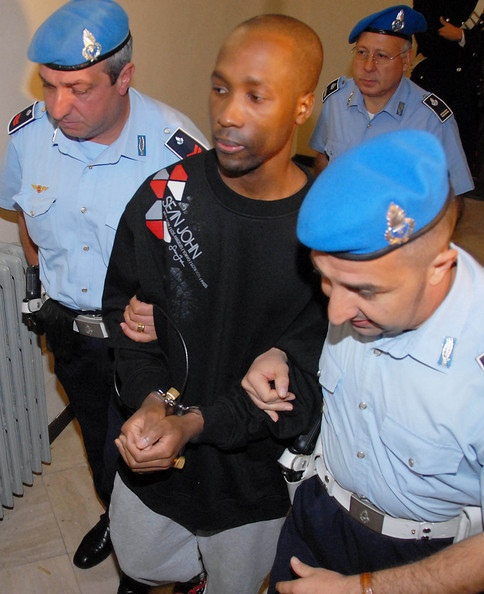 Rudy Guede with Italian Police